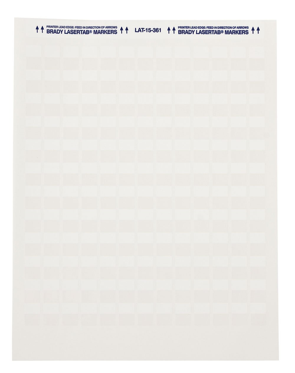Brady Self-Laminating Laser Printable Polyester Labels (LAT-19-361-1) - Matte Finish, White/Translucent Labels - 1