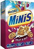 Weetabix- Minis Fruit & Nuts- Cereales de Trigo Integrales con Frutas y Frutos Secos (10 unidades de 450 gramos)