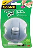 Scotch Pop-Up Tape Refillable Deskgrip Dispenser, 3/4 x 2 Inches, 75 Strips/Pad, 1 Pad/Pack - Colors May Vary (98-G)