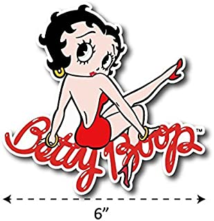 (TK-047) Betty Boop - Waterproof Vinyl Sticker for Laptops Tablets Cars Motocycles Bicycle Skateboard Luggage Or Any Flat Surface (6