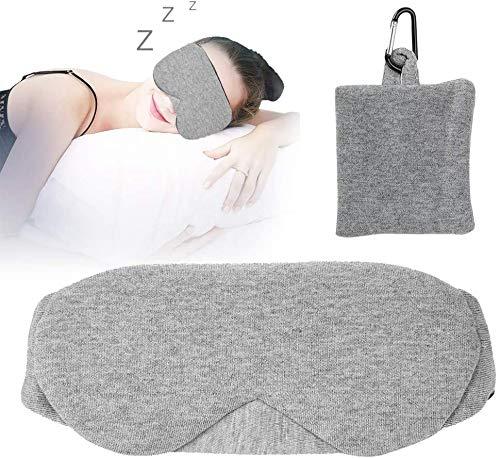 Verstelbare slaapmasker, 3D Contoured Eye Mask zacht en ademend Eyeshade Cover Slapen Blindfold Eyepatch for Easy Gevuld Slapen in Darkness, Perfect for Home Reizen gebruik (grijs) lsmaa