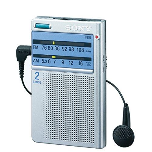 ソニー ポケッタブルラジオ 名刺サイズ FM/AM/ワイドFM対応 ダイヤル選局 ICF-T46