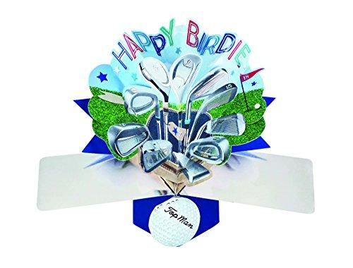 Pop Up Grusskarte Birdie Golf