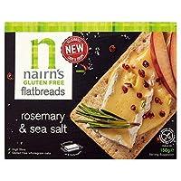 [Nairn's] Nairnsグルテンフリーのローズマリーや海塩フラットブレッド150グラム - Nairns Gluten Free Rosemary And Sea Salt Flatbreads 150G [並行輸入品]