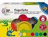 Marabu 042100088 - Set di Colori per pitturare con Le Mani, 6 tubetti da 35 ml