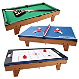 FDInspiration 3 in 1 Rotating Multi Game Table Tennis Billiard Pool...