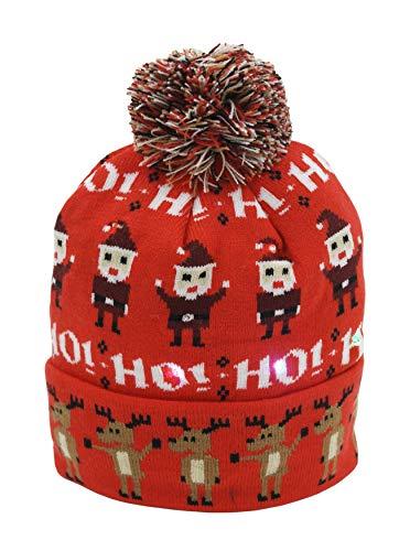 IEP Bonnet de Noël lumineux pour adulte - - Taille Unique