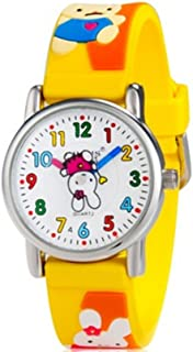 Hsnsying Cartoon Rabbit Design Analog 3D Band,Girls Boys Children Wrist Kids Watches,Waterproof