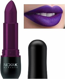 (3 Pack) NICKA K Vivid Matte Lipstick - NMS17 Dark Scarlet