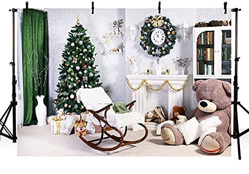 Toile de Fond de Photographie Pliable, Photo Fond de Noël Thème de Noël Texture à la Maison pour la décoration de Portrait (Color : White5, Size : 8x6ft)