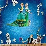 Loopomio Jersey Stoffe Frozen Anna und ELSA türkis royal
