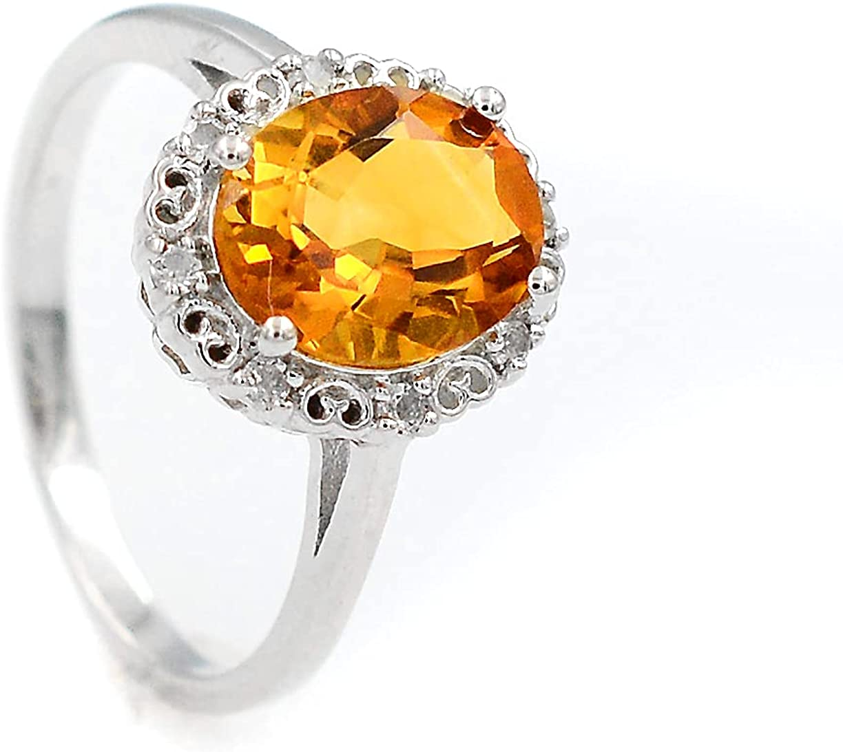 Natural Citrine 10X8 MM Oval Cut Gemstone Sterling 925 Solid Luxury goods A surprise price is realized Sil