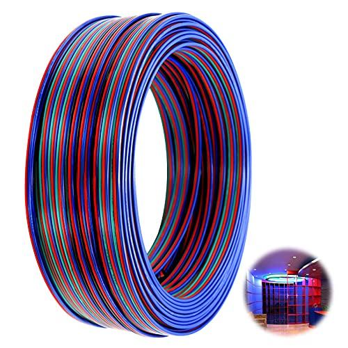 10M Cable de Extensión RGB, Cable de Extensión de LED de 4...