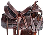 Acerugs 14 15 16 17 Western Comfy Ranch Work Pleasure Trail Endurance Leather Horse Saddle TACK (16)