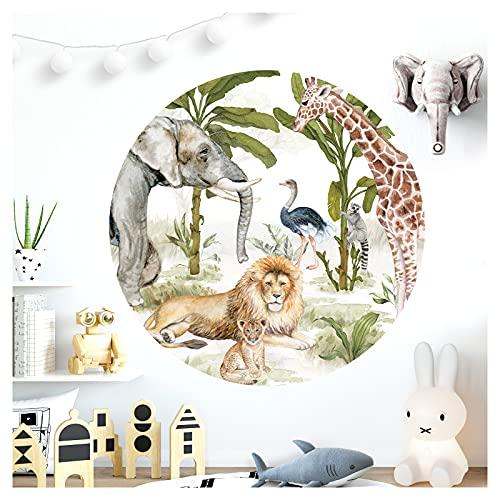 Little Deco DL619 - Adhesivo decorativo para pared, diseño de animales y león, 120 cm