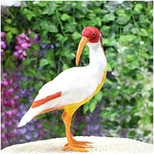 FXQ Simulación Bird Modelo de Juguete - la Pluma verdadera Realista Ibis Crestado Adornos de Juguete - Artificial Figuras Miniatura Modelo Animal cumpleaños de los niños