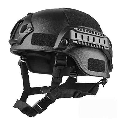 tJexePYK Military Helm Airsoft Paintball Kopfschutz Armee-Kampf-Helme Getriebe Zubehör (Schwarz),