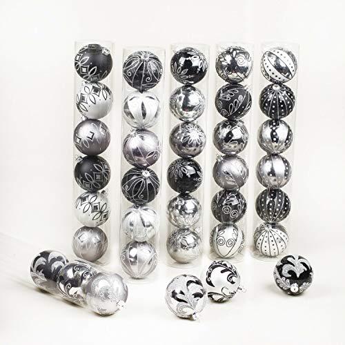 Lakbi Sterling Shatterproof Christmas Ornaments 3.25'- 6 Counts~Various Patterns