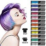 SYOSIN Haarkreide, Haar Colorationen,12 Stück Haarkreide Kamm,Temporär Haarfarbe Kreide Kamm für...