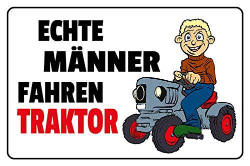 Metalen bord echte mannen rijders tractor!.grappig comic trekker