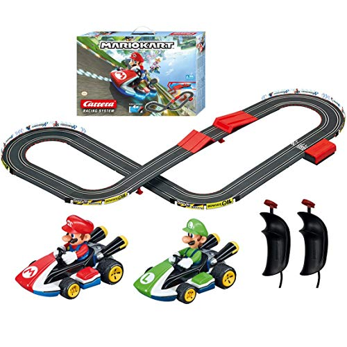 Carrera GO!!! 63503 Official Licensed Mario Kart Battery Operated 1:43 Scale Slot Car Racing Toy Track Set with Jump Ramp Featuring Mario and Luigi for Kids Ages 5 Years and Up