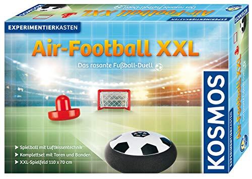 KOSMOS 676070 Air-Football XXL, Das rasante Fußball-Duell mit Luftkissentechnik, Komplett-Set mit Toren und Banden, XXL-Spielfeld 110 x 70 cm, Experimentierkasten