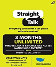 Straight Talk $130 3 Months Unlimited Refill Top-Up Card