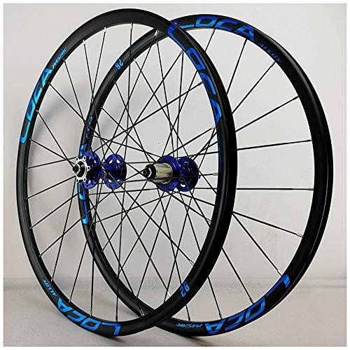 CWTC Ruedas de Bicicleta MTB 27,5 Pulgadas, Pared Doble Aluminio 26 En Ruedas de Ciclismo de Carreras Freno de Disco 24 Hoyos 7/8/9/10/11 Rueda (Size : 26inch)