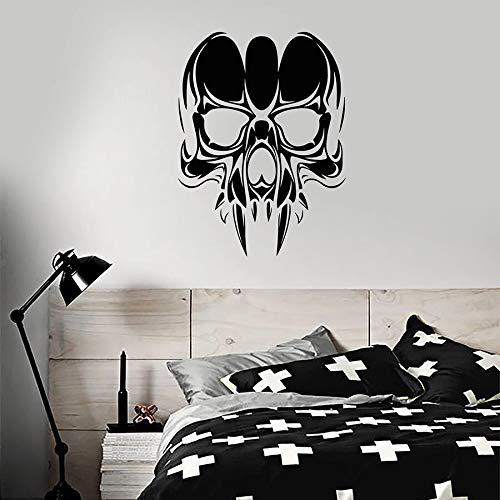 Calcomanía de pared de calavera vampiro estilo gótico dormitorio para adolescentes hombre cueva decoración del hogar diseño de vinilo pegatina para ventana Cool Bar Art Mural