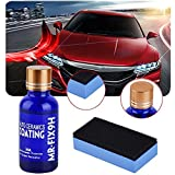 Automotive Ceramic Coating, Greyghost Mr Fix 9H Anti Scratch Hydrophobic Polish Nano Coating Kit, High Gloss Car Paint Sealant Protection