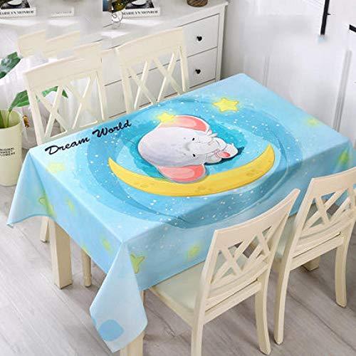 Traann Oilcloth Tablecloth, vierkante tafelkleed, vouwbare tafelhoes, waterdicht polyester, katoen, landelijke tuin, voor keuken en cartoon 120*160 A