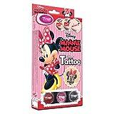Disney Minnie Mouse Glitzertattoos, 12 Amazing Schablonen – Hypoallergen, ohne Tierversuche hergestellt – für 8–18 Tage, temporäre Tattoos -