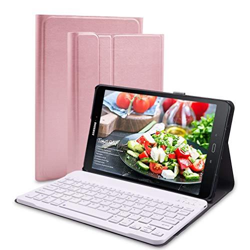 Lachesis Custodia Italiana Tastiera per Samsung Galaxy Tab A 10.1 2019 T510/T515, Tastiera BT per Tablet Samsung Tab a 10.1 2019 Rimovibile Senza Fili, Custodia con Tastiera per Tablet 10.1