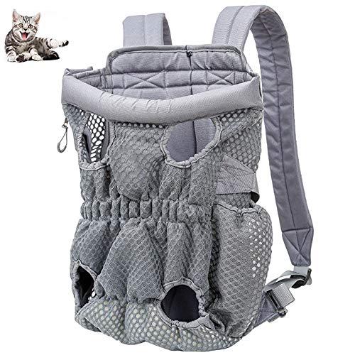 Pet Carrier Mochila, Ajustable Delantero Animal Doméstico del Gato del Perro del Portador del Recorrido del Morral del Bolso, Las Piernas, De Ajuste Fácil para Viajar Que Va De Excursión