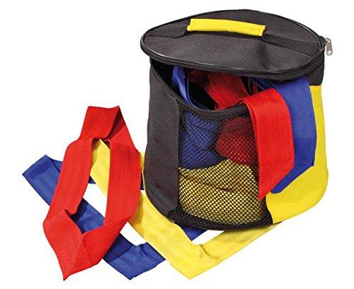 Unbekannt Mannschaftsbänder-Set, 30 Schärpen, Juniorgröße, 10 Bänder je Farbe, 48 cm lang, geschlossene Form - Tasche Trainingsbänder Mannschaftstraining Fußball Sportunterricht Kinder Schule Schüler