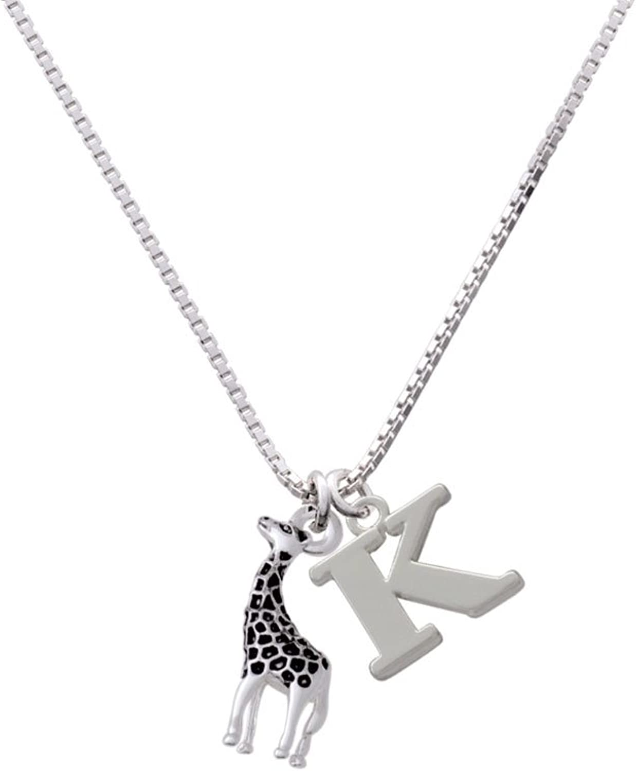 Capital Initial Necklace Delight Jewelry Antiqued Giraffe