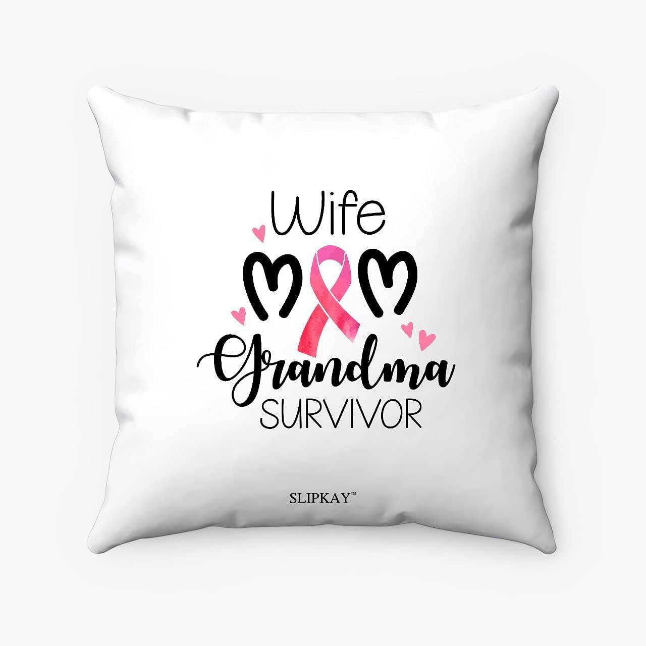 Max 90% OFF Breast Cancer Wife Mom Grandma Long-awaited Spun Square Polyester Pi Survivor