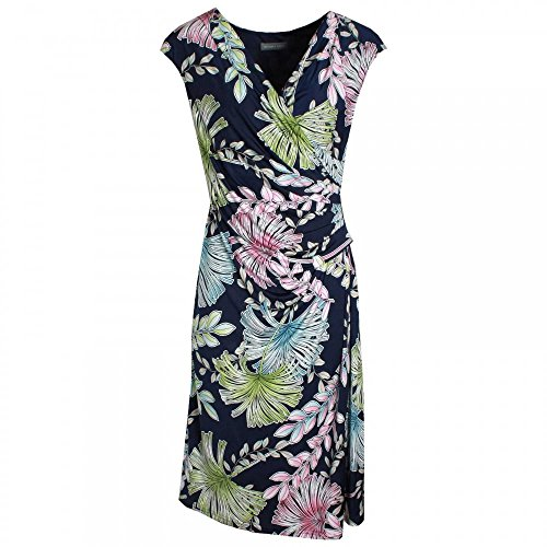 Michaela Louisa V-Neck Floral Print Sleeveless Dress 10 Navy Multi