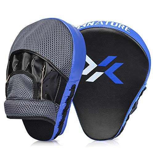 Xnature Essential Curved Boxing MMA Punching Mitts Boxing Pads w/Gift Box Hook & Jab Pads MMA Target Focus Punching Mitts Thai Strike Kick Shield for...