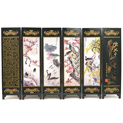 Jiu Bu Peking Opera Masker, Scherm, Antiek Lak, 46.5×24×0.6cm, Kantoor, Thuisaccessoires F
