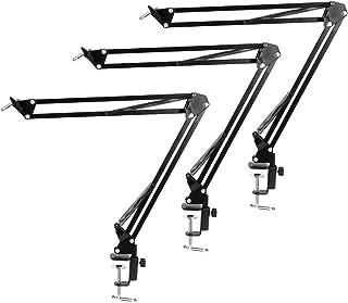 P Prettyia 3 Soporte de cámara Web - Soporte de Tijera de suspensión con Montaje de Abrazadera de Escritorio de Aluminio I...