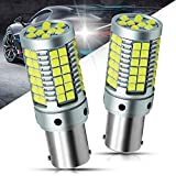 YEORO 1156 LED Bulb No Hyper Flash Turn Signal Lights 23Watts Super Bright 3030 69-SMD S25 BA15S 1141 1003 7506 P21W Bulb with CANBUS Error Free For Reverse Brake Lights.Xenon White,2-Pack.