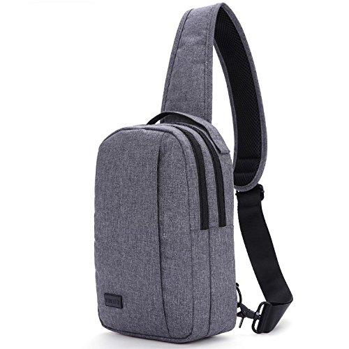 Sac de Poitrine nylon voyage de imperméable résistant à l'usure grande capacité hommes et femmes poitrine sac Messenger sac Sling bag , gray
