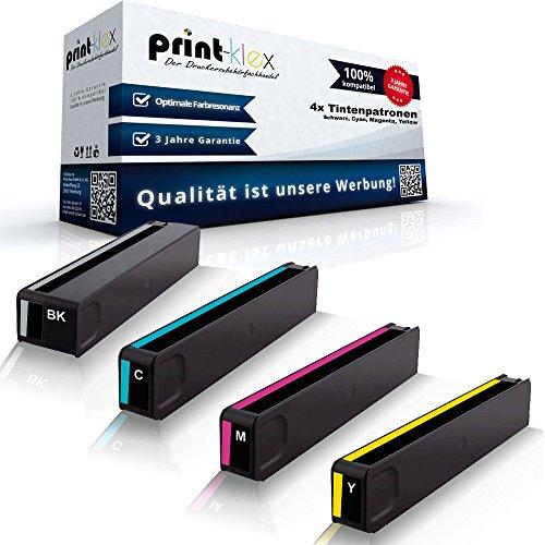 Print-Klex 4x kompatible Tintenpatronen für HP OfficeJet Pro X476 dn X476 dw X551 dw X576 dw HP970 HP971 HP 970XL HP 971XL HP 970 XLK HP 971 XLC HP 971 XLM HP 971 XLY Black Cyan Magenta Yellow - Sparpack
