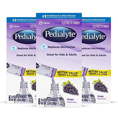 Pedialyte Electrolyte Powder, Grape…