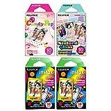 Fujifilm 600018509 Lot de 4 mini films Instax Multicolore (40 expositions)