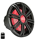 KICKER KM124 12' Marine Subwoofer with LED Charcoal Grill 4 Ohm for Sealed Applications