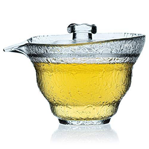 Kristal Gaiwan Van Dik Glas - Chinese Theekop Met Deksel - Thee Kop Met Deksel - Gai Wan 120 ml