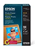 Epson Photo Paper Glossy - Borderless - S042038, 4' x 6' (100 sheets)