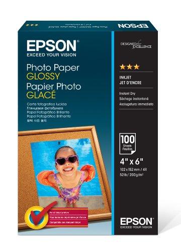 Epson C13S042548 Photo Paper Glossy A6 100 10 x 15 cm (A6) Carta fotografica, getto d'inchiostro